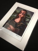 "Image of La Gioconda (Mona Lisa) - Signed Mini Print with White Mat, 5""x7"""