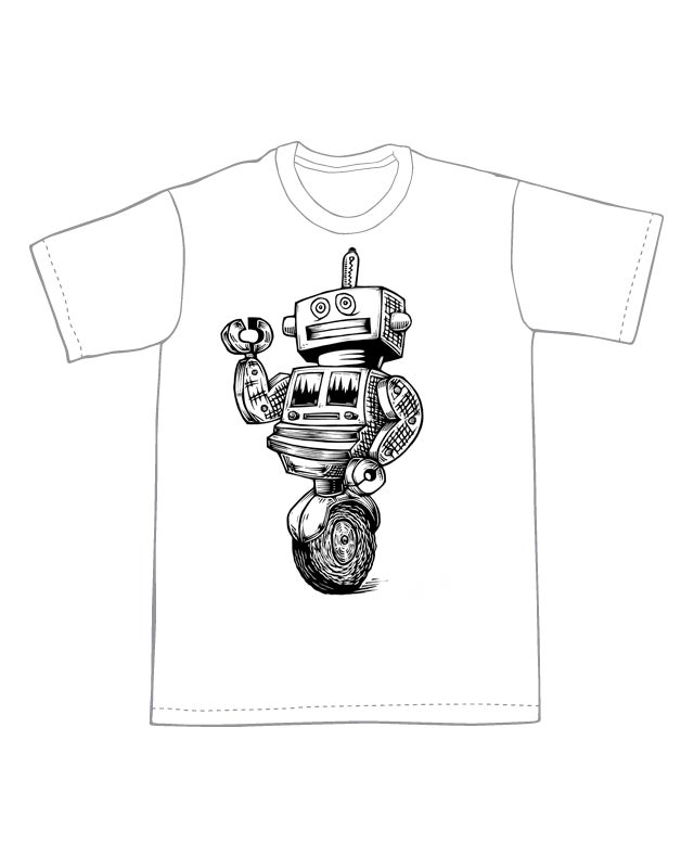 The Uniwheel Robot T-Shirt (A1) **FREE SHIPPING**