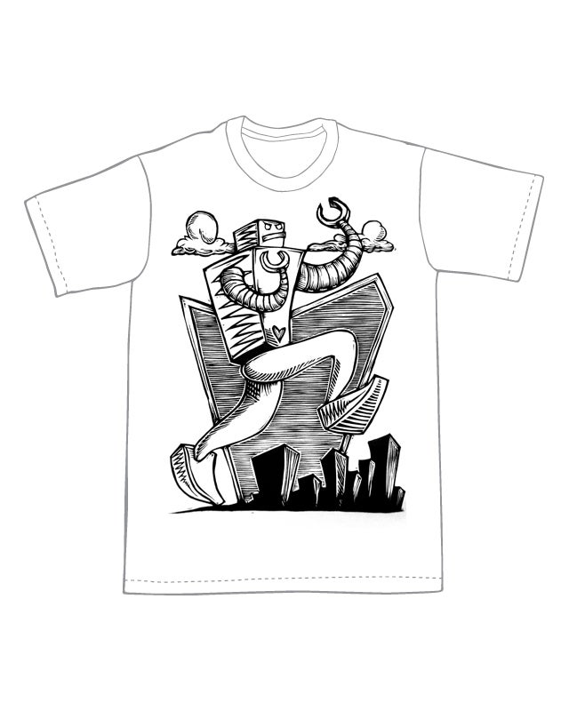 Marauding Robot T-Shirt (C1) **FREE SHIPPING**
