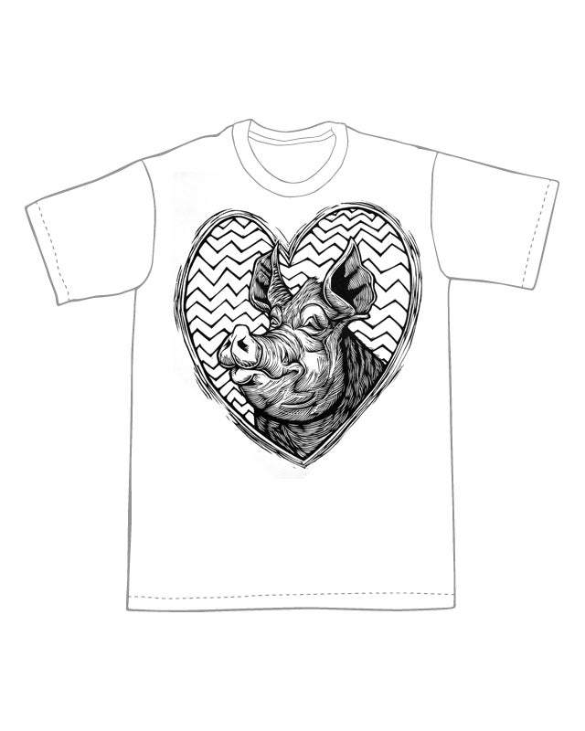 Pig Love  T-Shirt (C1) **FREE SHIPPING**