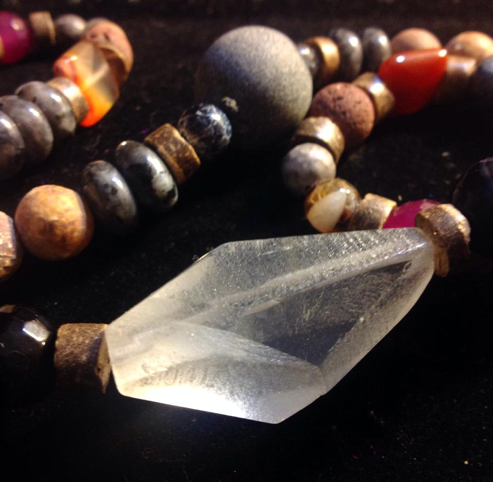 Image of Custom Channeled for a Shaman <3  Shamanic Crystal Quartz Programming Necklace