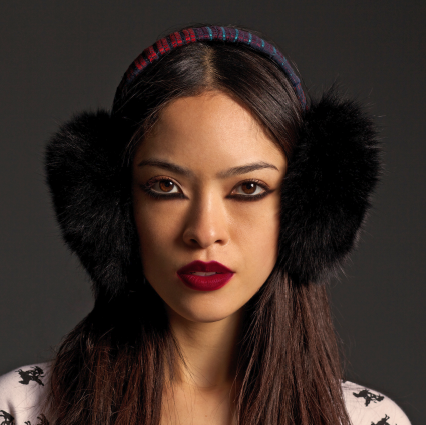 "Image of ""Ulan"" Black Fur Earmuffs"