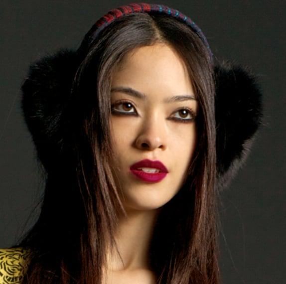 """Image of """"Ulan"""" Black Fur Earmuffs"""