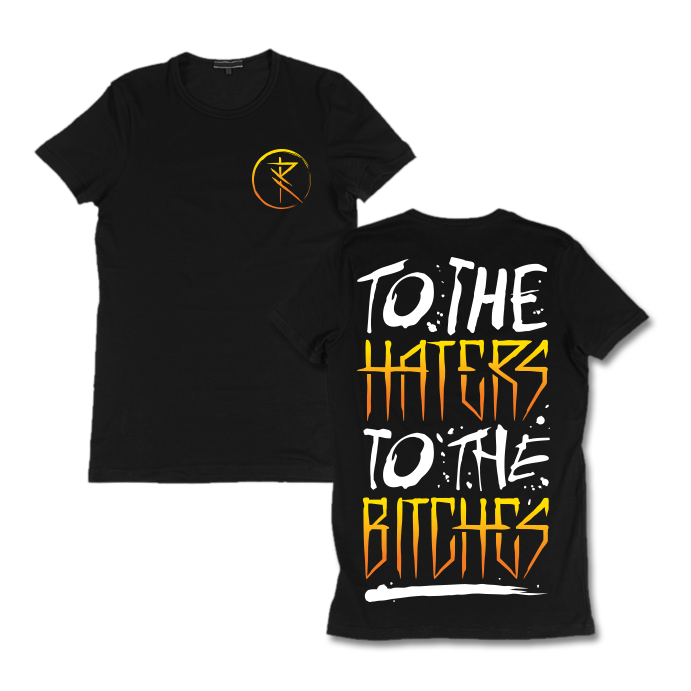 Image of To the haters to the bitches ''Yellow logo'' t-shirt