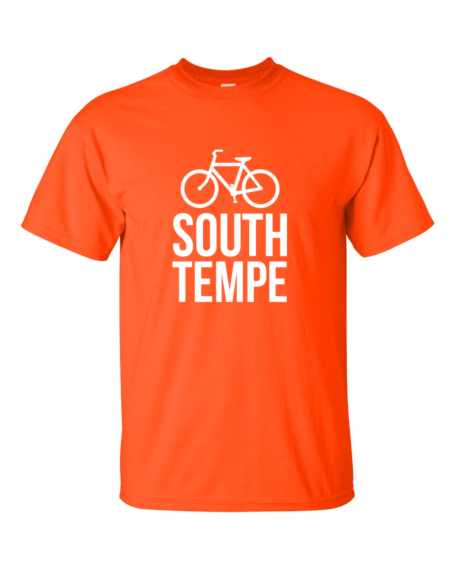 Image of South Tempe - Citrus Orange Shirt with White Letters