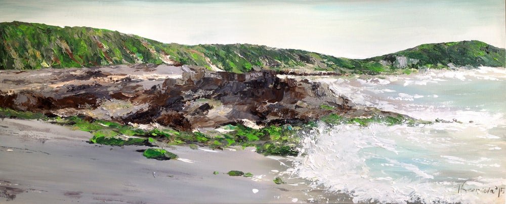 Image of 'We walked on a silver sands'  60x152