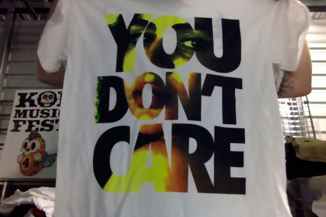 "Image of EMMURE ""YOU DON'T CARE"" SHIRT (LARGE & XL)"