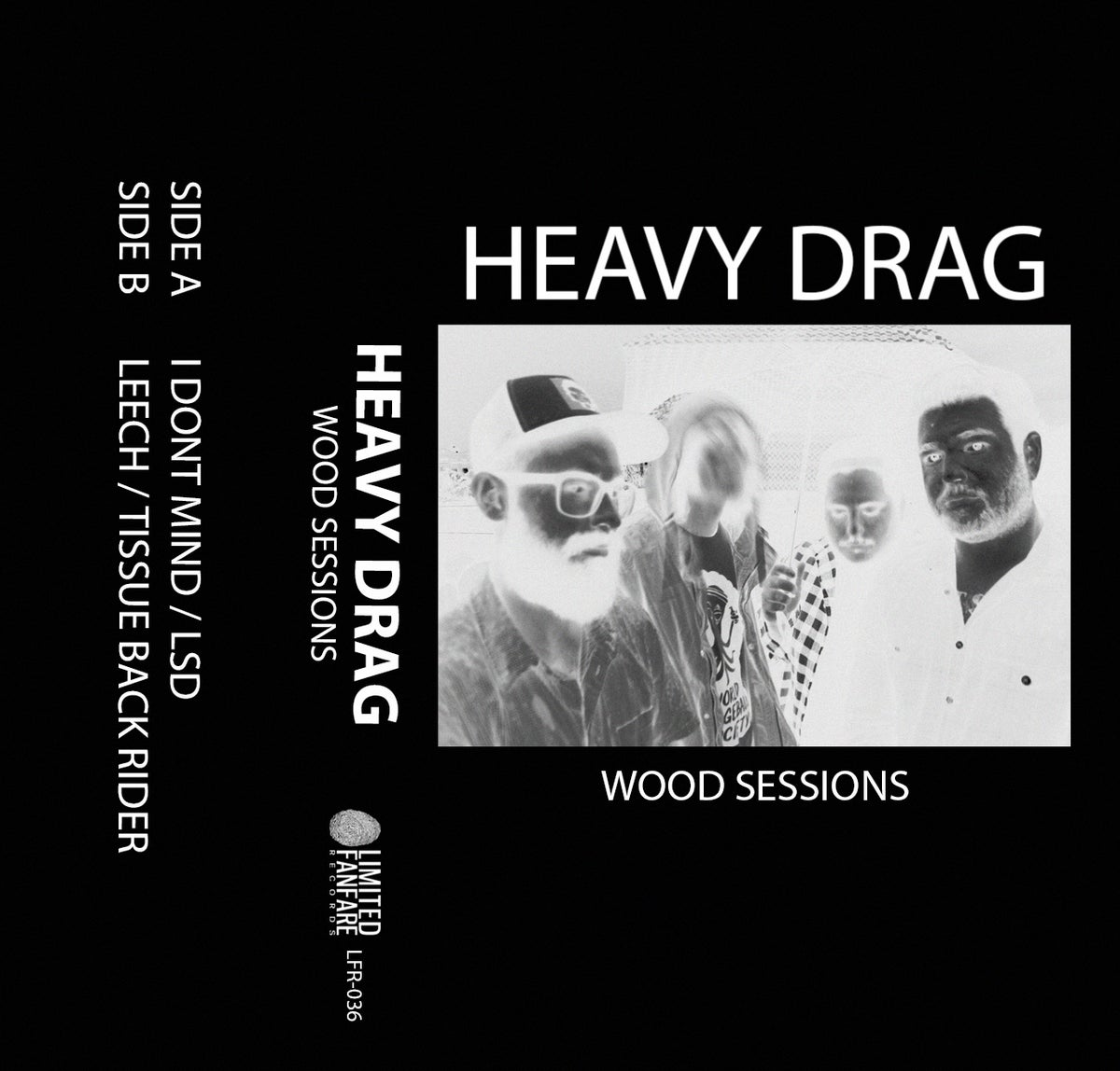 Image of HEAVY DRAG - WOOD SESSIONS (CASSETTE - LTD to 100)