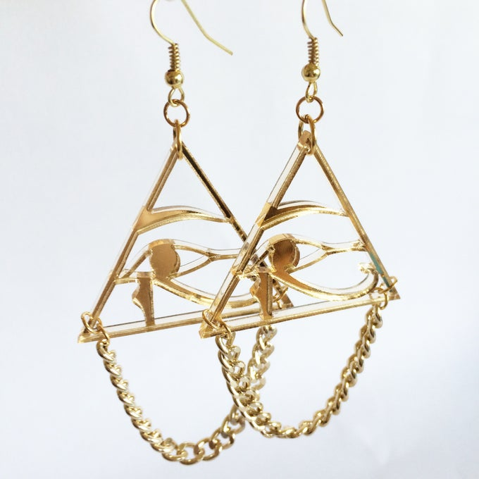Image of Eye of Horus Drop Earring