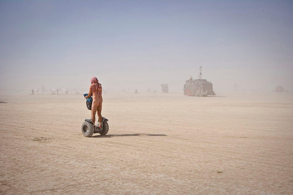 Image of Nude man on Segway !