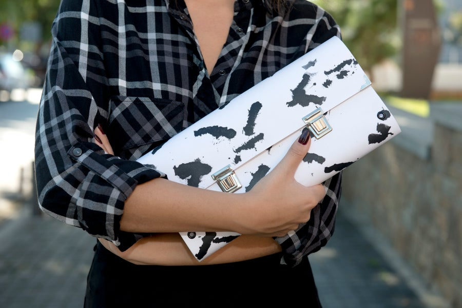 Image of Brush-ink / Clutch Bag / Double closure