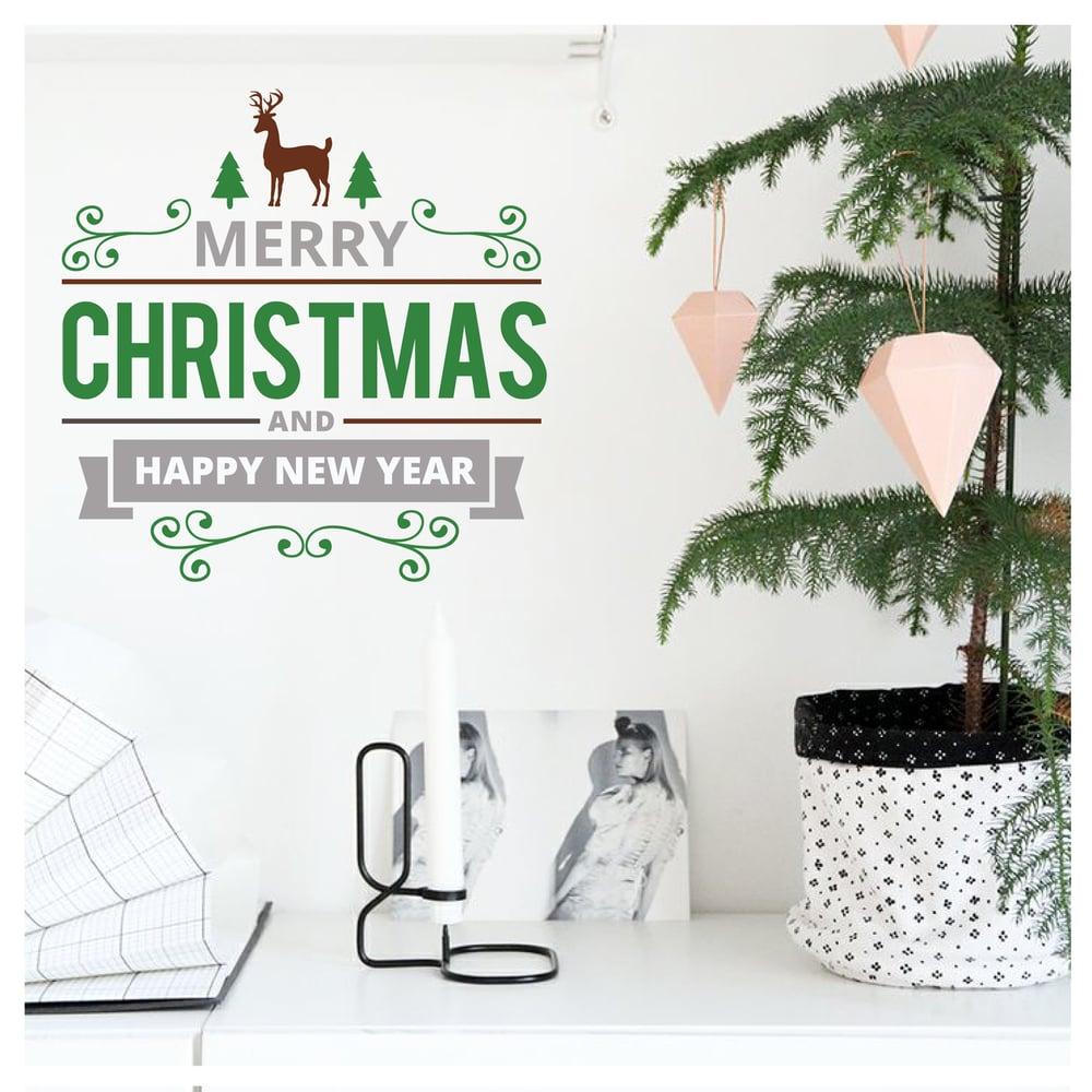 Image of Vinilo Navidad Merry Christmas