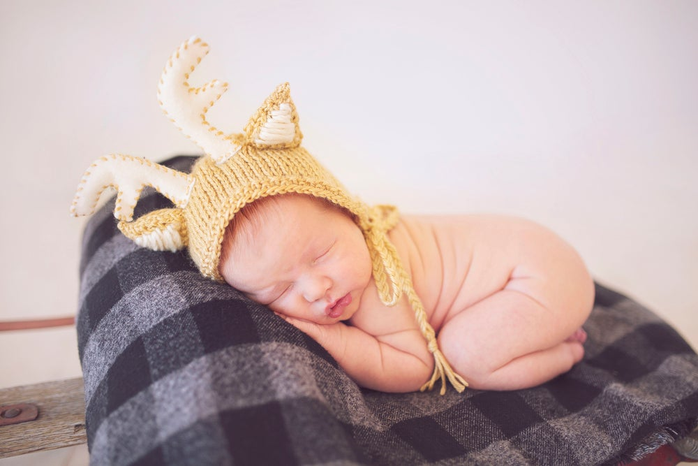 Image of Newborn Fox or Deer Bonnet *Pre-Order*