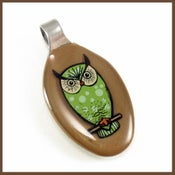 Image of Owl Baby Spoon Pendant