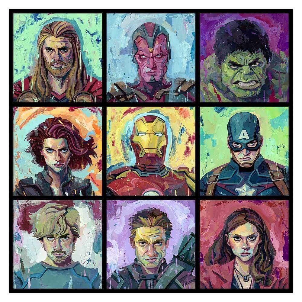 Image of Avengers 17x18 Print