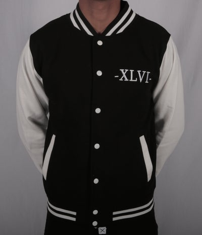 Image of Black XLVI Varsity Jacket