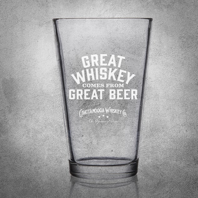 Image of CHATTANOOGA WHISKEY PINT GLASS