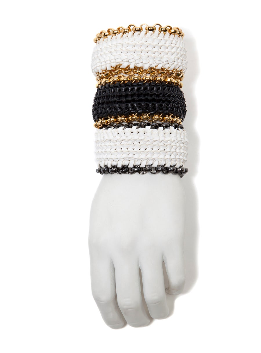 """Image of """"Circuit"""" Woven Leather Bracelets"""