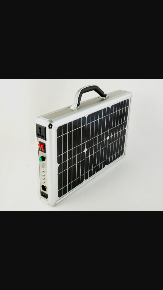 Image of Portable All in One 15watt (150watt output) Solar Powered Home/Outdoor Generator