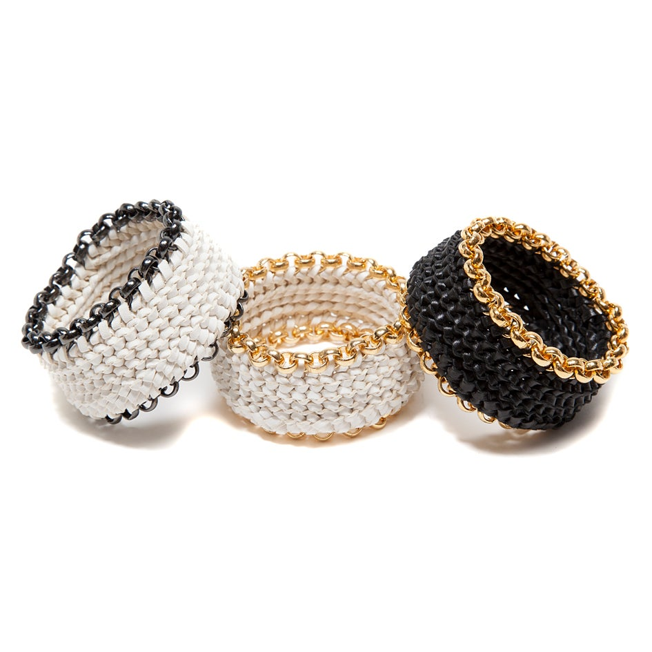 "Image of ""Circuit"" Woven Leather Bracelets"
