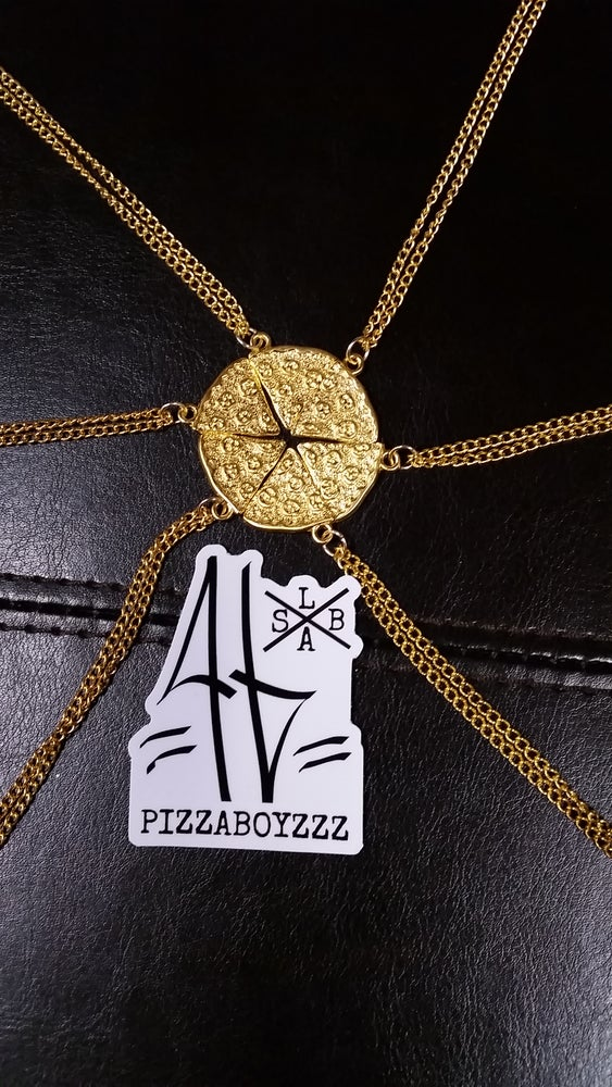 Image of $40 SPECIAL ON GOLDEN or SILVER SLICES 6 CHAINZ SQUAD PIE