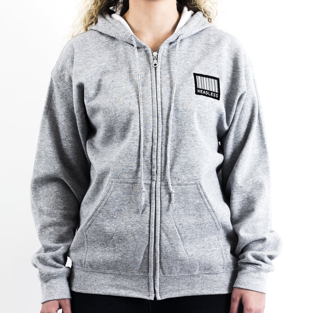 Image of 'LargeLogo' ZipUp (Grey)