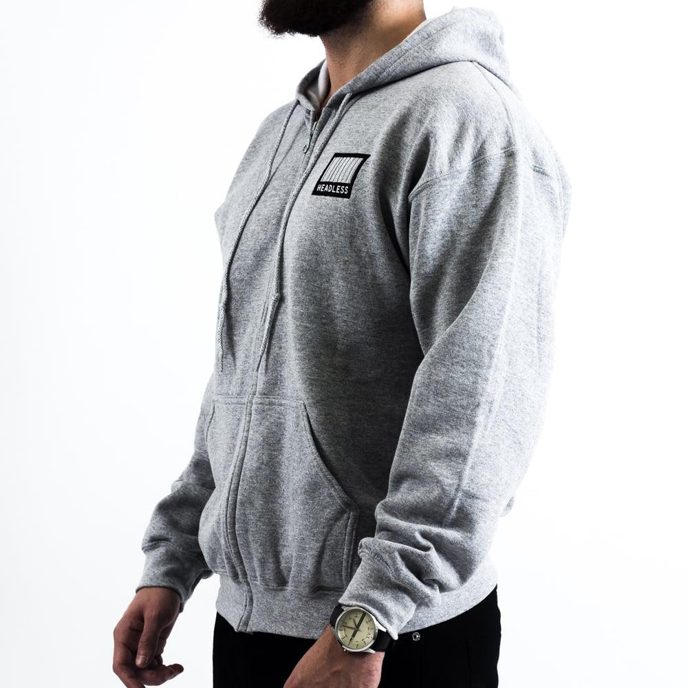 Image of LargeLogo ZipUp (Grey)