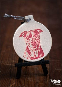Image of 2015 Destiny the Pibble Red Ornament