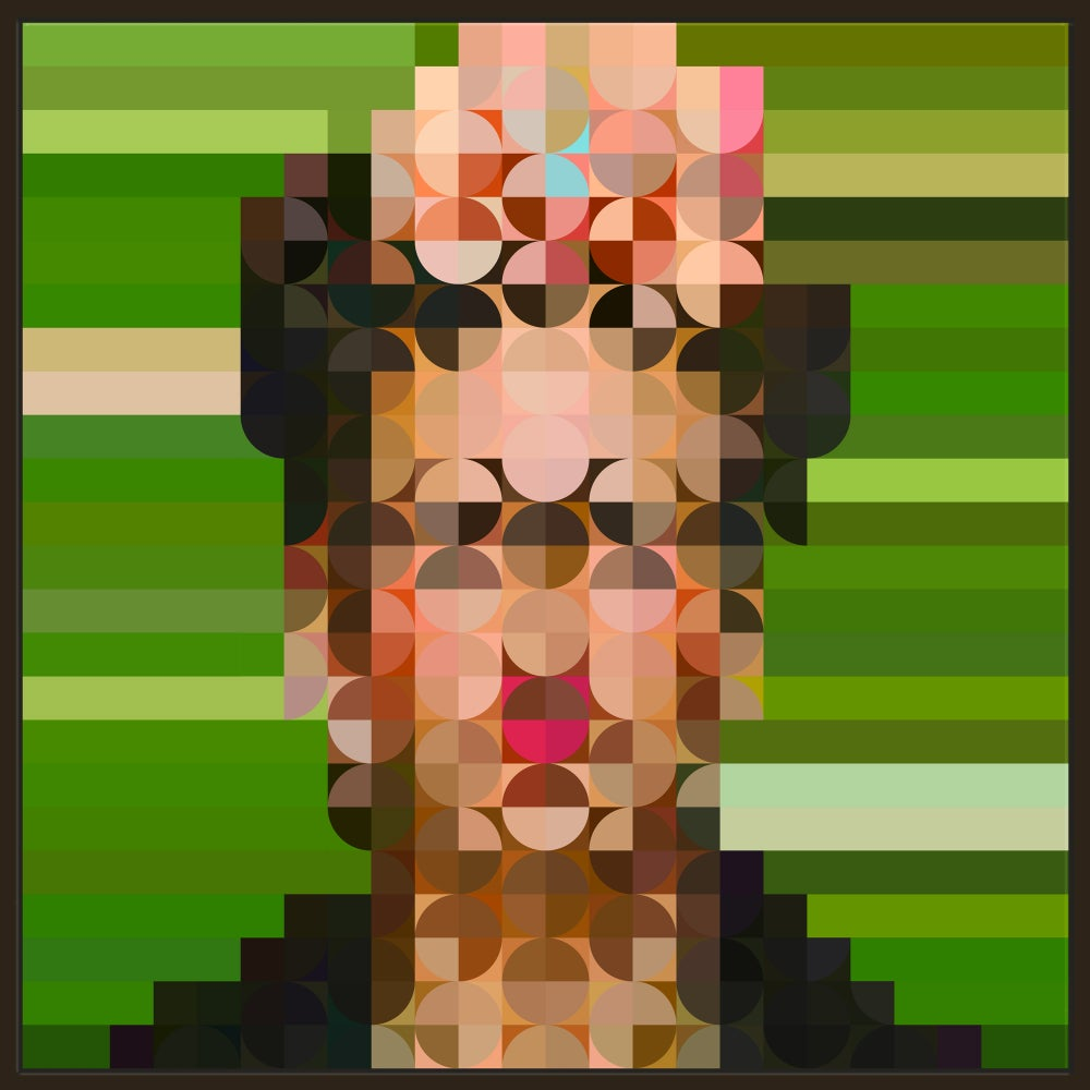 Image of Squint Op Art Abstract Frida