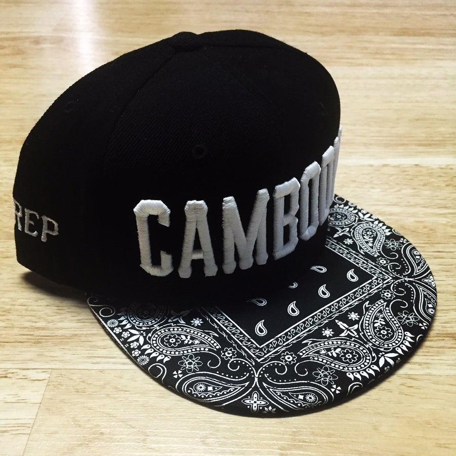 Image of REP CAMBODIA Black Bandana Snapback