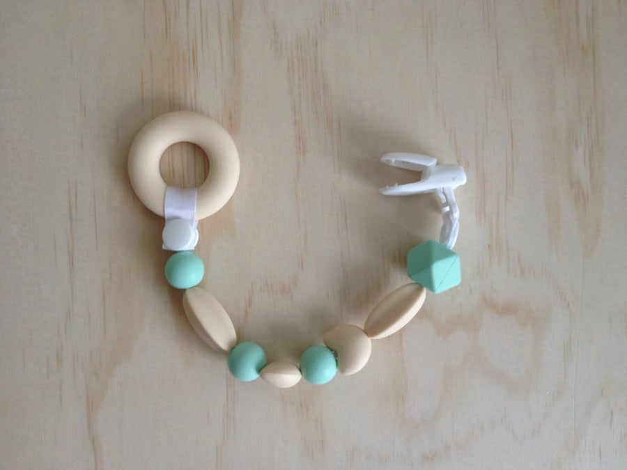 Image of Silicone Teething Clip in Mint