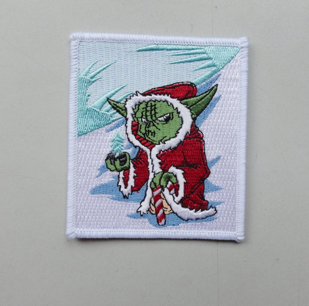 Image of Santa Yoda Holiday Patch
