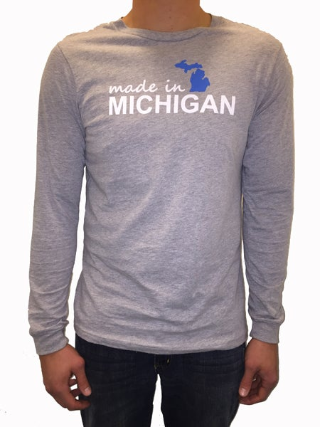 Image of Made In Michigan Long Sleeve Unisex Tee