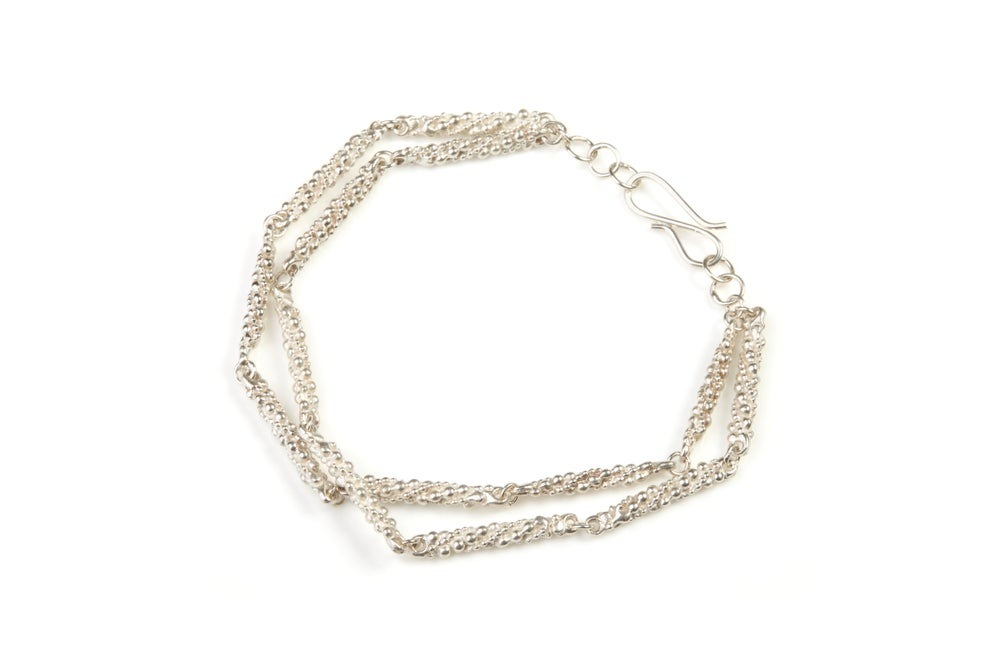 Image of Stark two strand textured bracelet