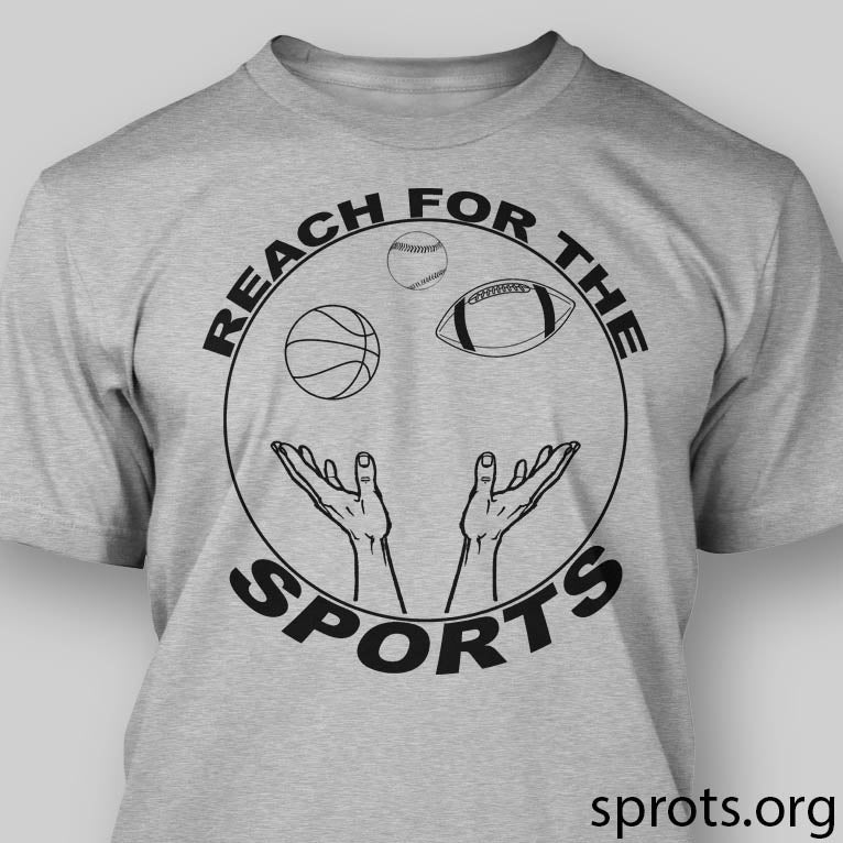 Image of REACH FOR THE SPORTS Screen Printed T Shirt