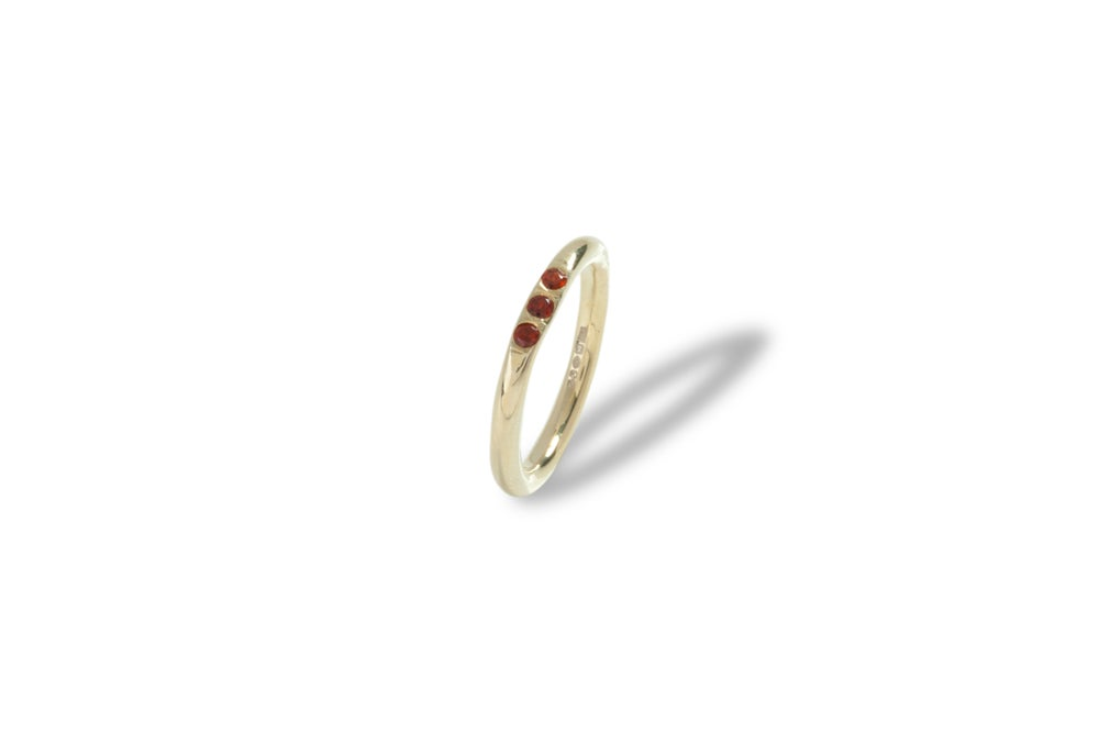 Image of Mini Signet Ring With Rubies