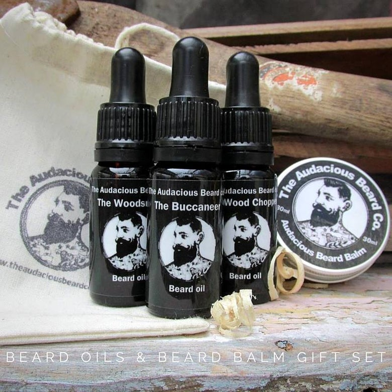 Image of Beard Oils & Beard Balm Gift Set - The Audacious Beard Co