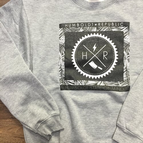 "Image of ""Palm Saw"" Men's Premium Crewneck Sweater"