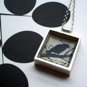 Image of West End Crow Pendant Necklace