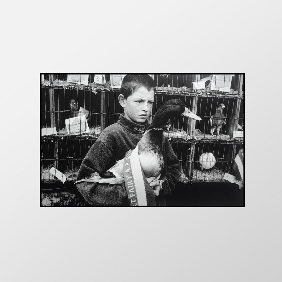 Image of Boy with prize-winning drake, Port Fairy Show, 1997 – Limited edition of 100