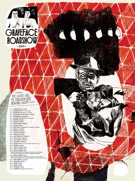 "Image of Graveface Roadshow • Limited Edition Official Poster (18"" x 24"")"