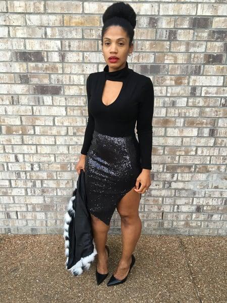 Image of Split Decision Sequin Skirt