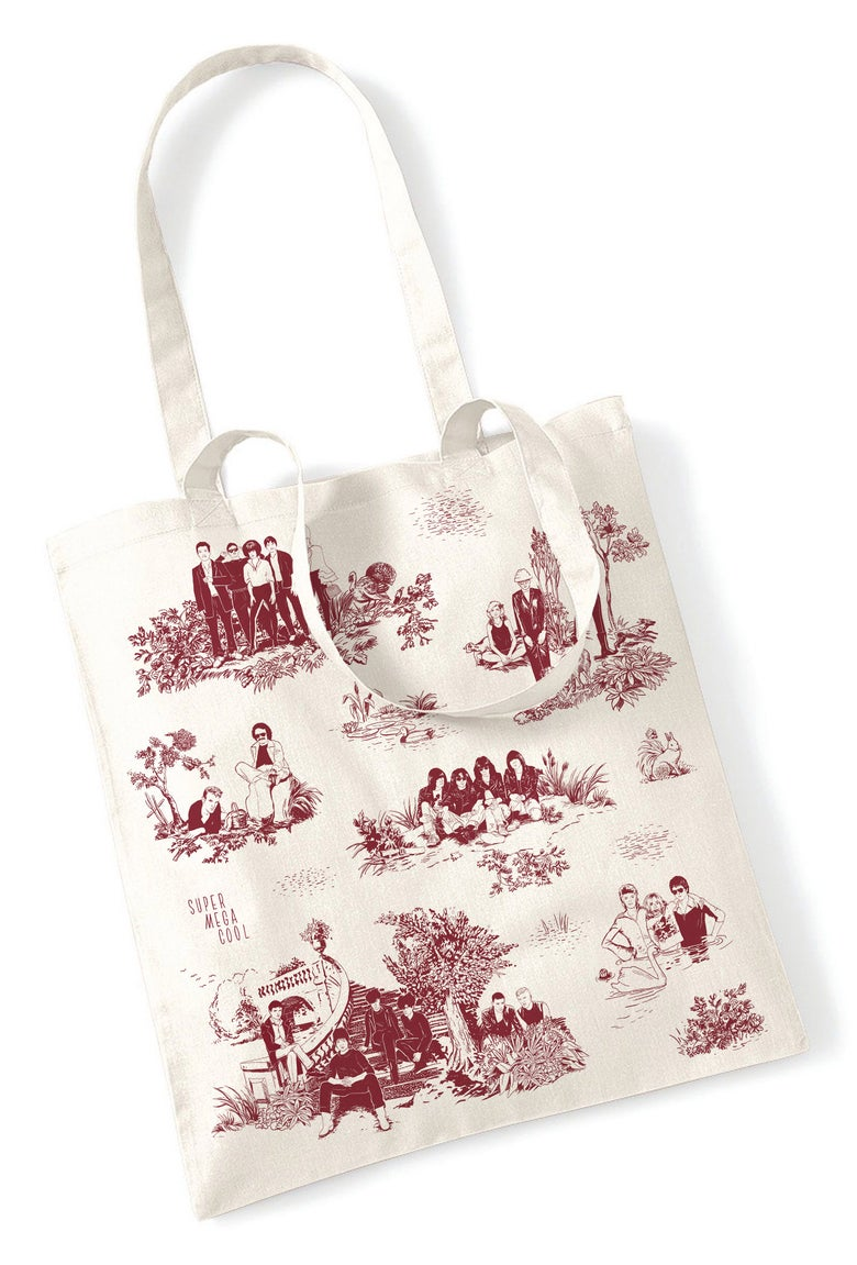 Image of Shopping Bag - Rockstars sur Toile de Jouy Rouge