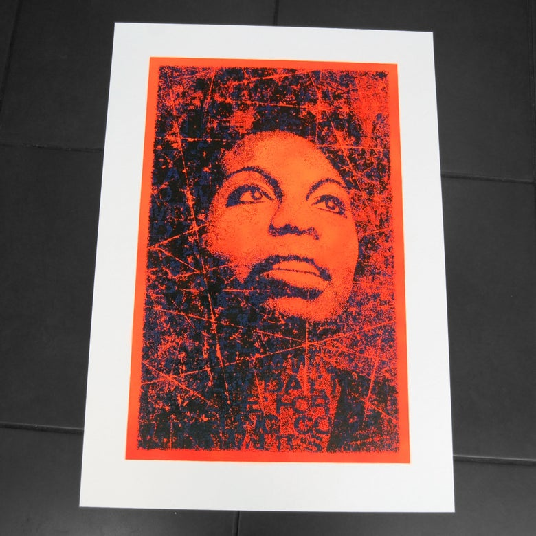 Image of NINA SIMONE - unique 1/1 artist proof