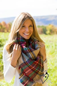 Image of Plaid Blanket Scarf Oversized Zara Tartan Scarf Gift Ideas Accessories Bloggers Favorite Scarf