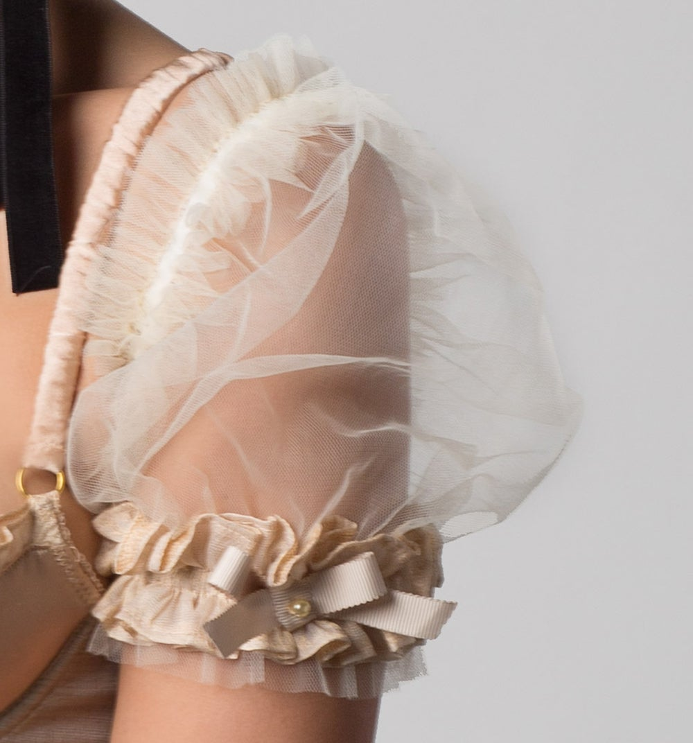 Image of INESS Fairy Tale tulle Ruffled Puff Sleeves