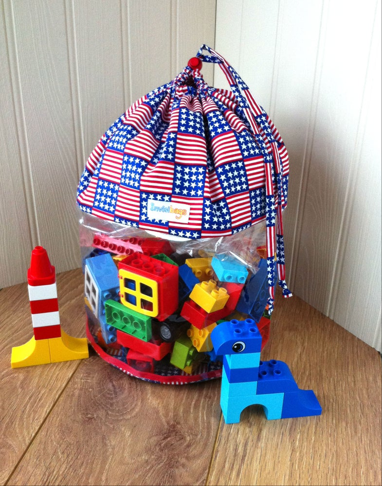Image of Stars and Stripes Invisibags Toy Bag
