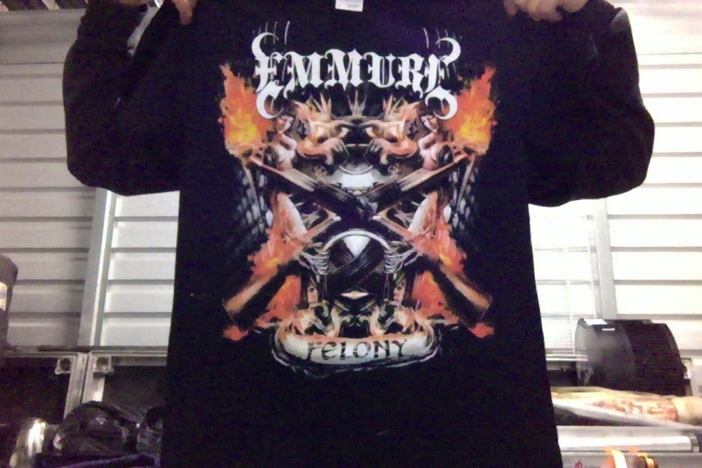 "Image of EMMURE ""FELONY"" SHIRT (SIZE SMALL ONLY)"
