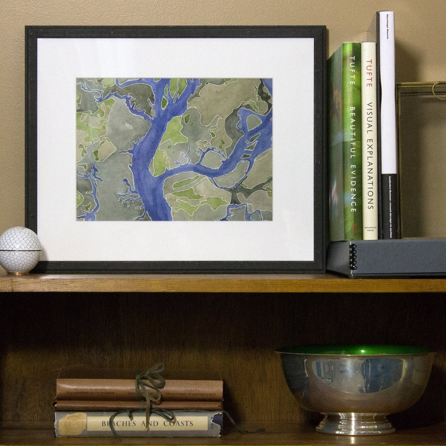Image of PORT ROYAL SOUND MAP - FRAMED