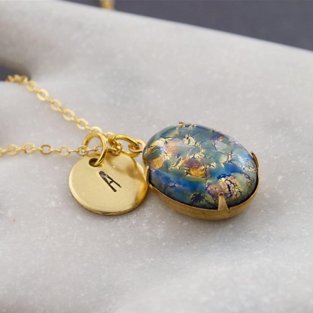 Penny masquerade handmade vintage inspired jewellery adira image of adira personalised fire opal necklace aloadofball Choice Image